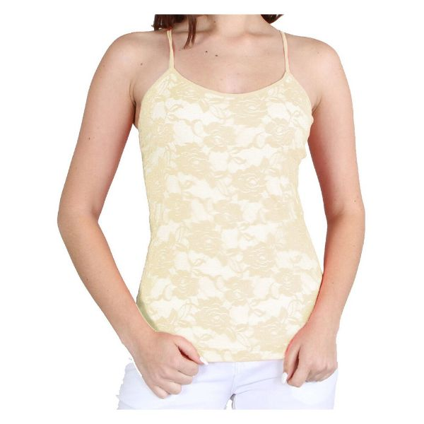 Women's Adjustable Camisole - One Size Fits Most-Pastel Yellow-Daily Steals