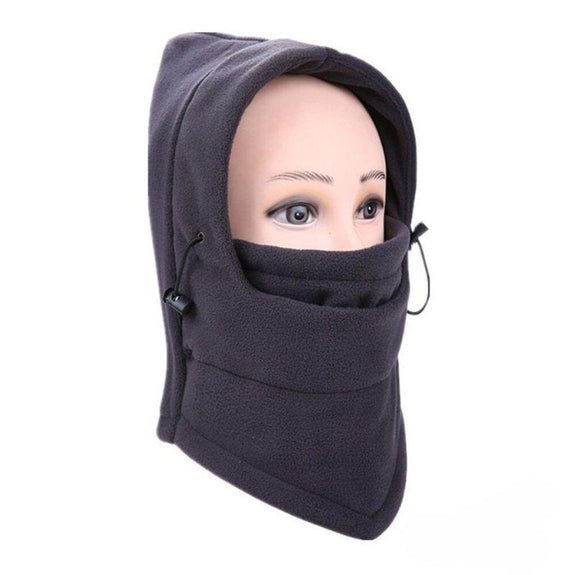 Full Cover Fleece Winter Masks - 2 Pack-Gray-