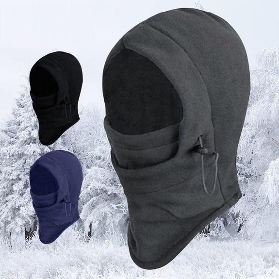 Full Cover Fleece Winter Masks - 2 Pack-Black-