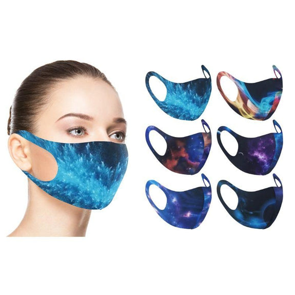 Fun Prints Assorted Reusable Face Masks - 6 Pack-