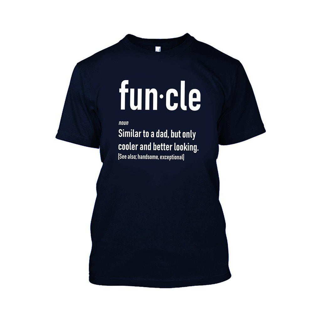 Funcle Fun Uncle T-Shirt-Navy Blue-2XL-Daily Steals