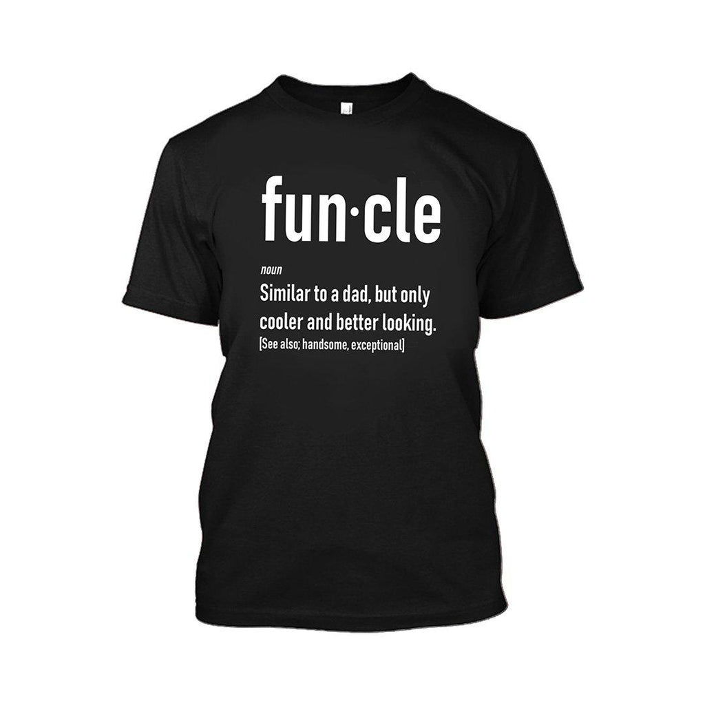 Funcle Fun Uncle T-Shirt-Black-2XL-Daily Steals