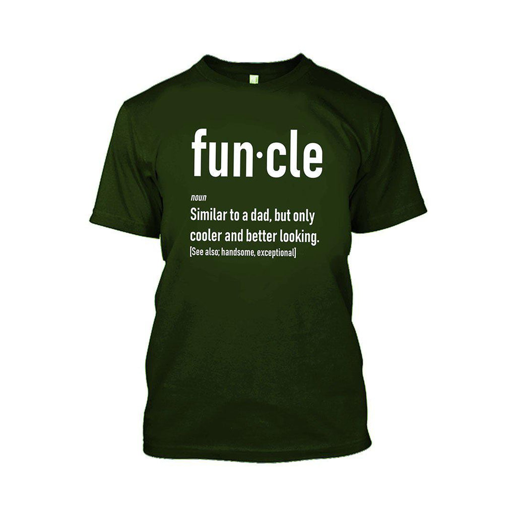 Funcle Fun Uncle T-Shirt-Military Green-2XL-Daily Steals