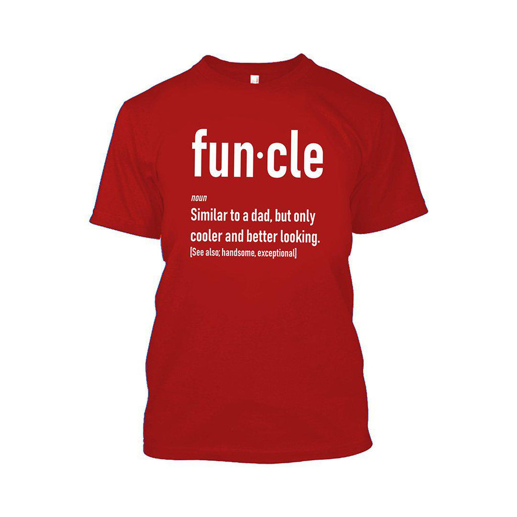 Funcle Fun Uncle T-Shirt-Red-2XL-Daily Steals