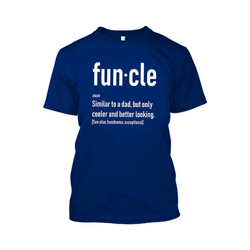 Funcle Fun Uncle T-Shirt-Royal Blue-2XL-Daily Steals