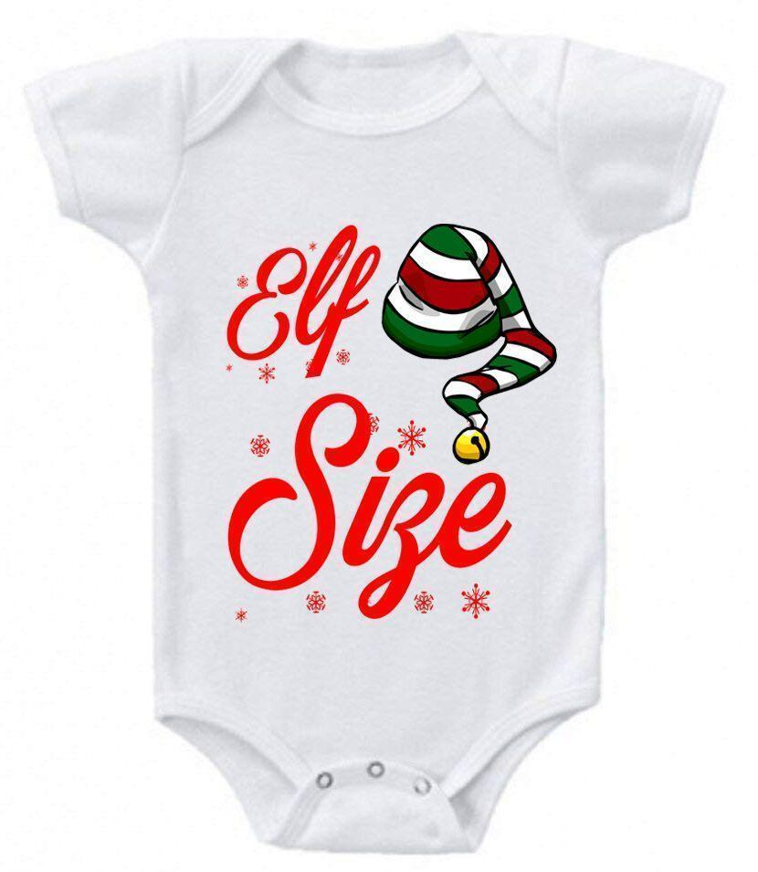 Daily Steals-Funny Christmas Sayings Bodysuit Romper-Toddlers and Babies-0-3 Months-Elf Size-
