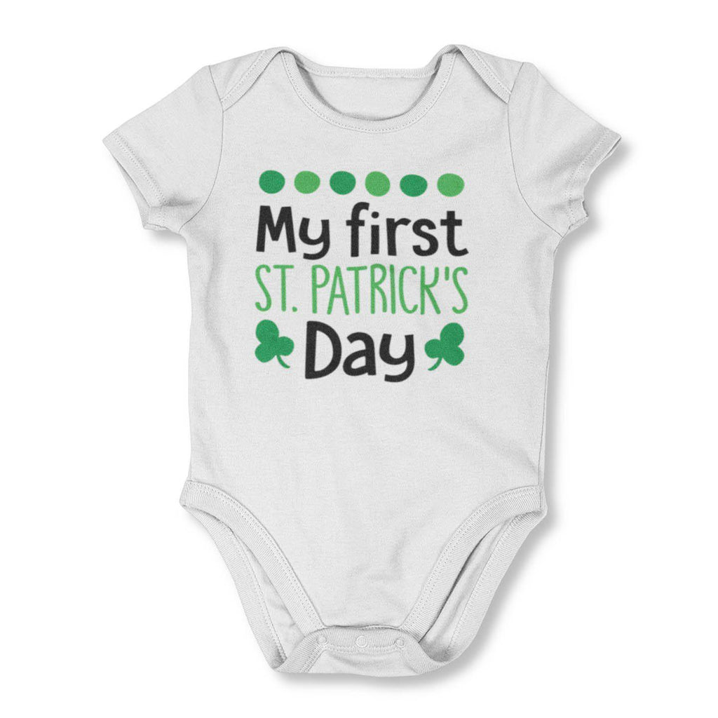 """Romper St Patricks Day /""""Drinks well with others/"""" Funny Onesie"""