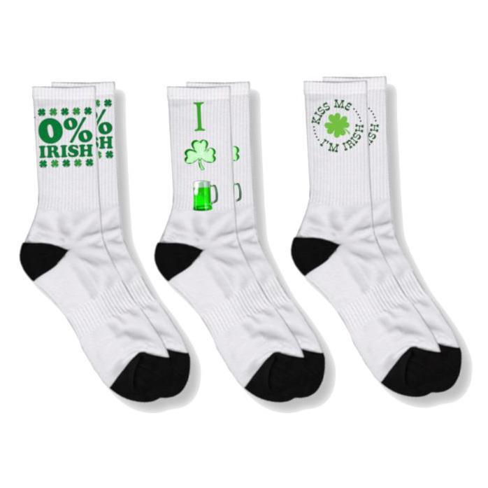 Daily Steals-Funny St.Patrick's Day Socks-Accessories-Ladies 4-6-I Clover Beer-
