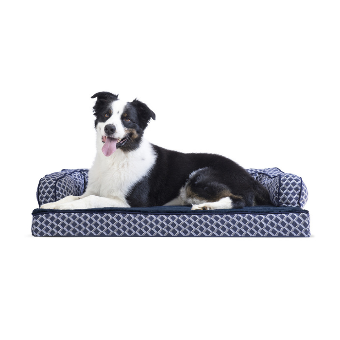 Daily Steals-FurHaven Plush & Décor Comfy Sofa-Style Dog Bed - 3 Color Options-Pets-Large-Diamond Blue-