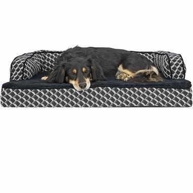Daily Steals-FurHaven Plush & Décor Comfy Sofa-Style Dog Bed - 3 Color Options-Pets-Medium-Diamond Gray-