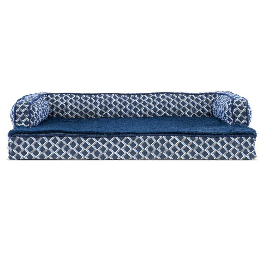 Daily Steals-FurHaven Plush & Décor Comfy Sofa-Style Dog Bed - 3 Color Options-Pets-Small-Diamond Blue-