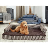 Daily Steals-FurHaven Plush & Décor Comfy Sofa-Style Dog Bed - 3 Color Options-Pets-Small-Diamond Brown-