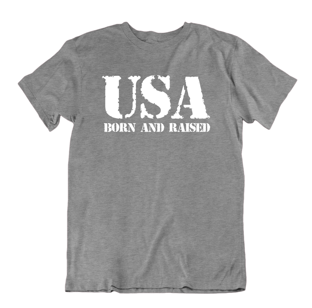 USA Born and Raised T Shirt-Sports Grey-Small-Daily Steals