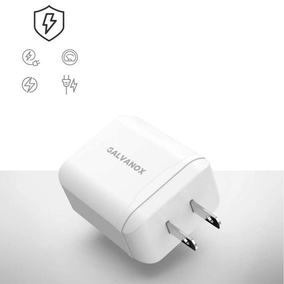 Galvanox Fast Charger for iPhone Wall Plug w USB C to Lightning Cable - 18W-