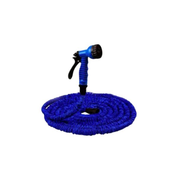 Garden Hose with Nozzle-Blue-50 Foot-Daily Steals