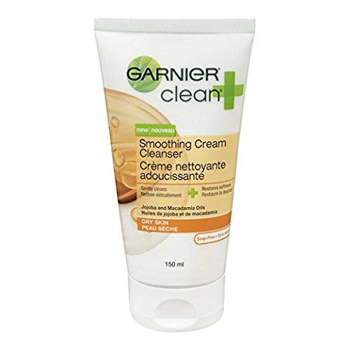 Garnier Clean and Smoothing Cream Cleanser for Dry Skin, 5 Fluid oz - 2 Pack-Daily Steals