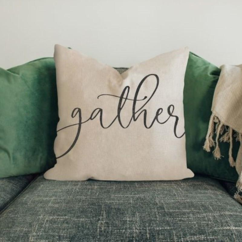 "Gather - Square Pillow Cover - 17"" x 17""-"
