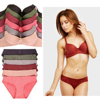 update alt-text with template Daily Steals-Mechaly Jacquard Full Cup Bra and Bikini Panty Set - 6 Pack-Women's Apparel-38B, S Size Panty-