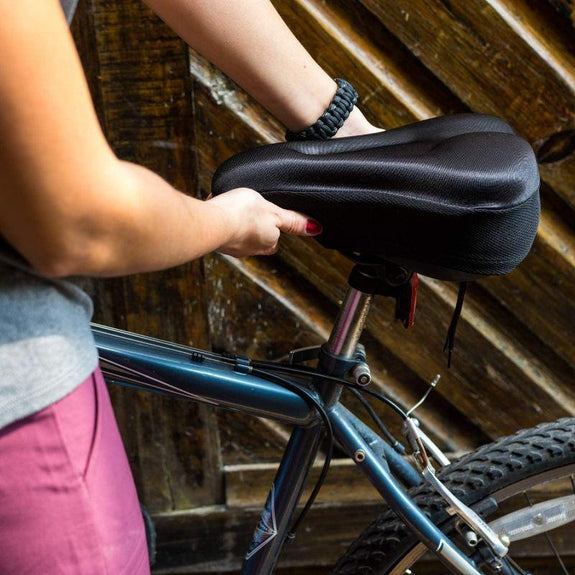 Gel Bicycle Seat Cover - Comfortable Soft, Water & Dust Resistant Cover-