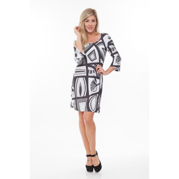 Genevieve Dress-Black/White-S-Daily Steals