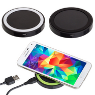 [1 or 2 Pack] Mini Round Wireless Charging Pad for Qi Enabled Devices-Daily Steals