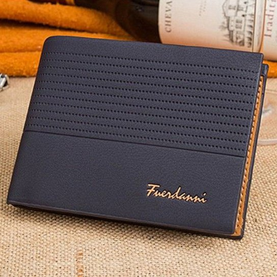 Fuerdanni Men's Leather Wallet-BLUE-Daily Steals