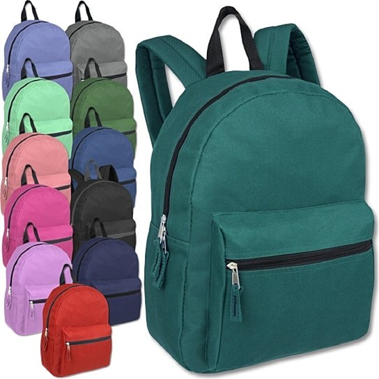 15 Inch Basic Backpack - Assorted Colors-1 pack-Daily Steals