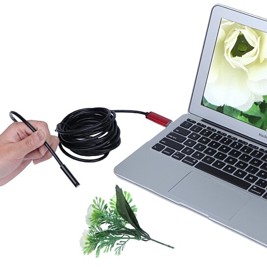 USB Inspection Color Camera with 16-Foot Reach and Six LED Lights-Daily Steals