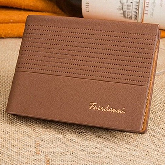 Fuerdanni Men's Leather Wallet-BROWN-Daily Steals