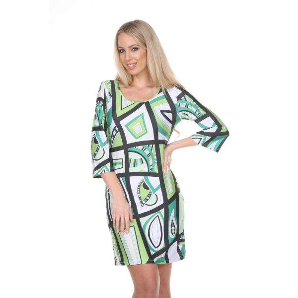 Genevieve Dress-Green / White-S-Daily Steals