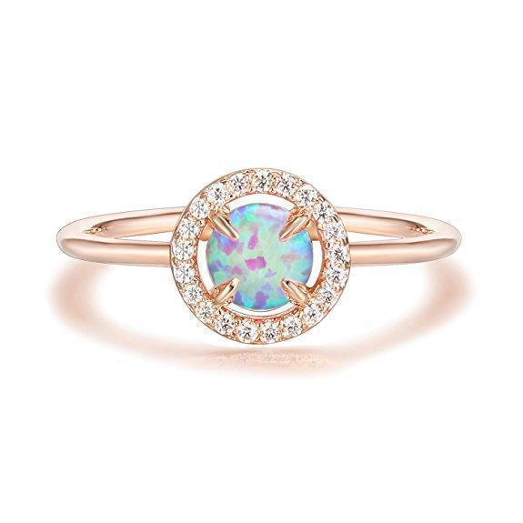 Daily Steals-Genuine Gemstone Round Ring-Jewelry-Rose-6-