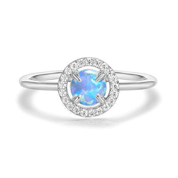 Daily Steals-Genuine Gemstone Round Ring-Jewelry-White-6-