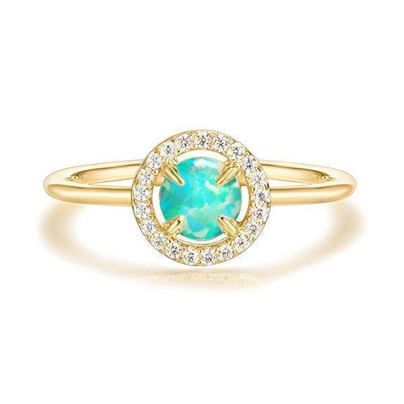 Daily Steals-Genuine Gemstone Round Ring-Jewelry-Yellow-6-