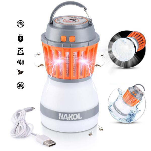 Daily Steals-2-In-1 Portable Mosquito Eliminator & Camping Lantern-Outdoors and Tactical-