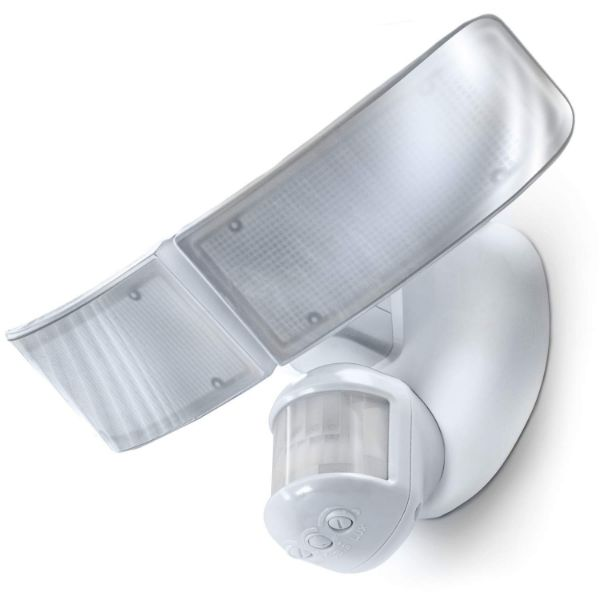 Home Zone Security Motion Sensor Flood Light - Mark 3 Wide LED Light Heads - 3 Pack-Daily Steals