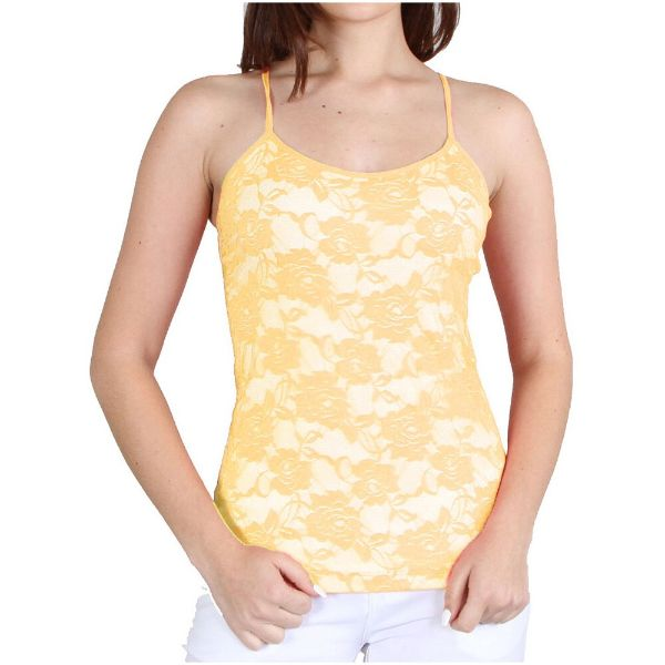 Women's Adjustable Camisole - One Size Fits Most-Yellow-Daily Steals