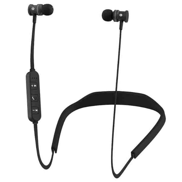 HYPE Active Sport Bluetooth Earbuds-Black-Daily Steals