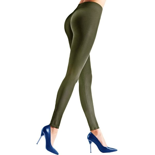 Womens Seamless Body Shaper Premium Stretch Leggings-OLIVE-S/M-Daily Steals
