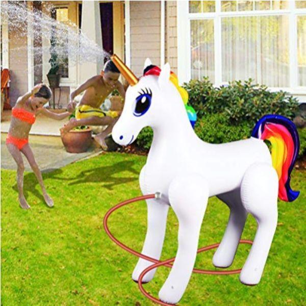Daily Steals-Giant Inflatable Sprinkler Unicorn-Outdoors and Tactical-