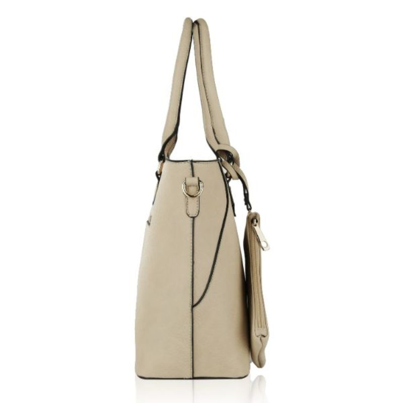 Gigi Tote Handbag with Matching Crossbody Bag and Wristlet by MKF-Daily Steals