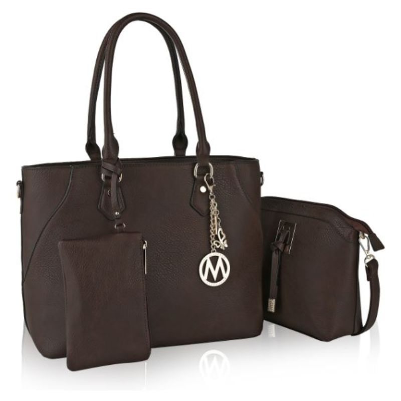 Gigi Tote Handbag with Matching Crossbody Bag and Wristlet by MKF-Coffee-Daily Steals
