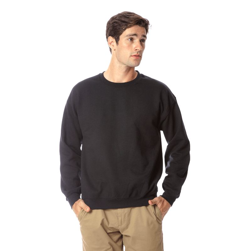 Gildan Men's Heavy Blend Crewneck SweaT-Shirt-Black-S-Daily Steals