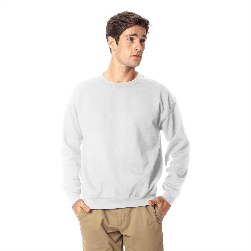 Gildan Men's Heavy Blend Crewneck SweaT-Shirt-White-M-Daily Steals
