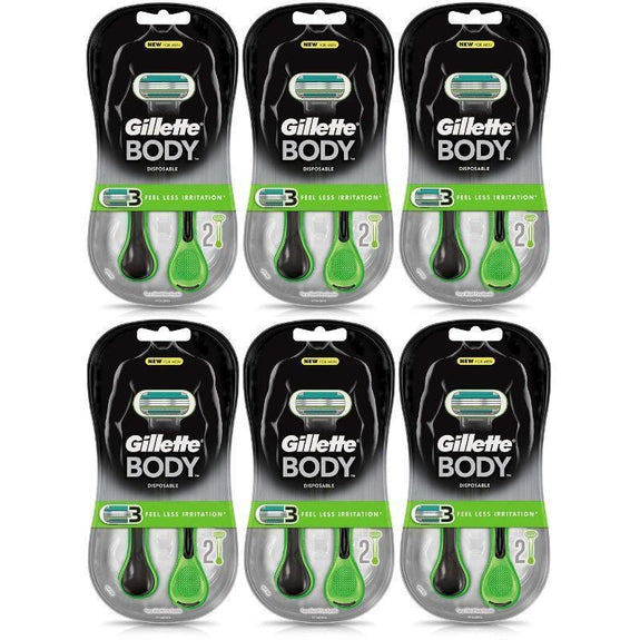 Gillette Body Disposable Razors - 12 Count-