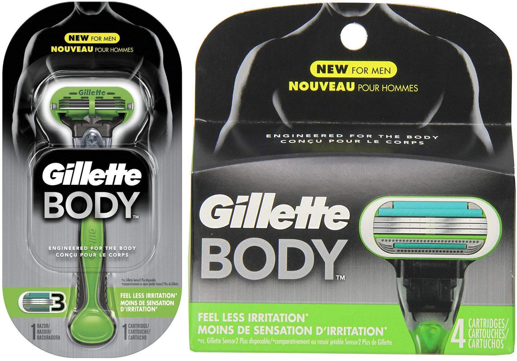 Daily Steals-Gillette Body Razor Handle + 5 Refill Blades-Health and Beauty-