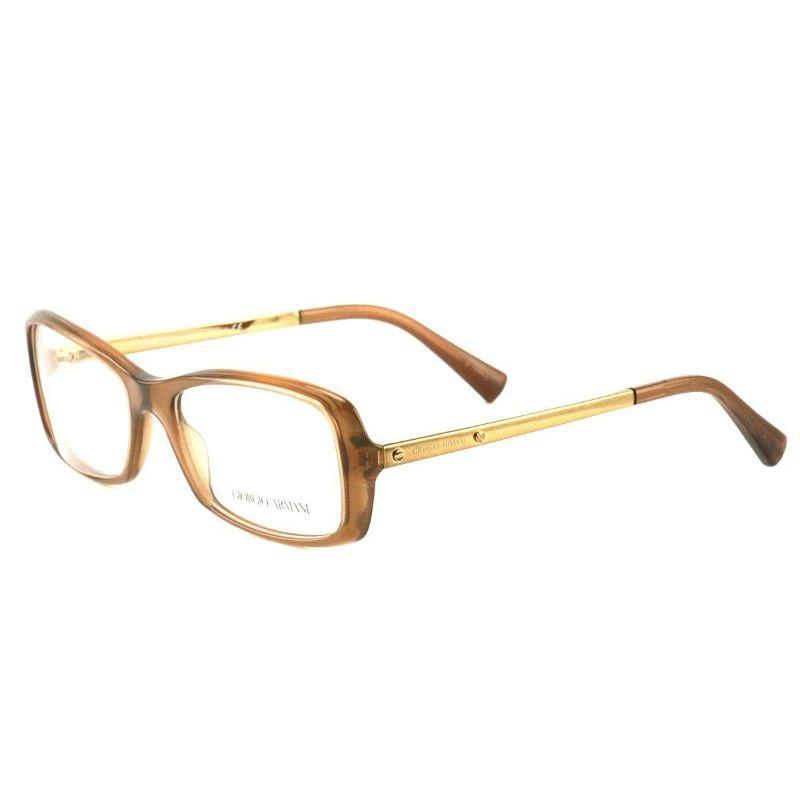 Giorgio Armani Women's Eyeglasses AR7011 5044 Transparent Brown Plastic 53 17 135-