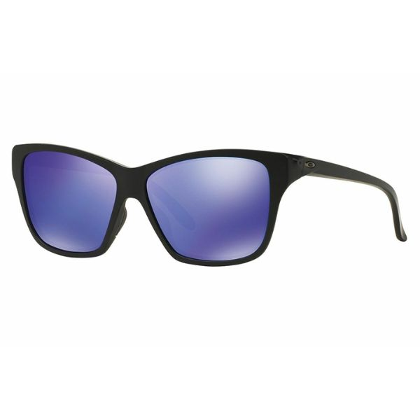 Daily Steals-Oakley Sunglasses HOLD ON OO9298-08 Matte Black Frame w/ Violet Iridium Lens-Sunglasses-