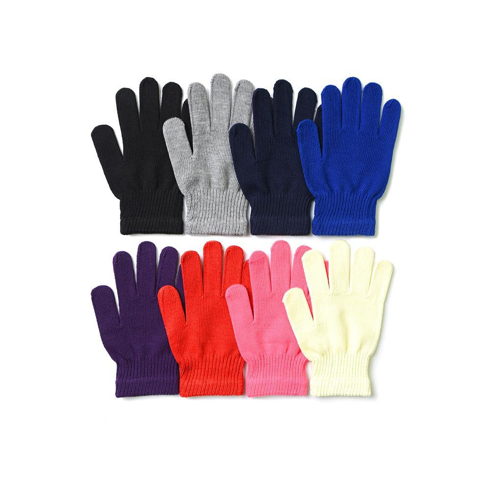 [4 or 6 Pack] Winter Magic Solid Colors Gloves - Mens and Womens Options-6-Pack-Mens-Daily Steals