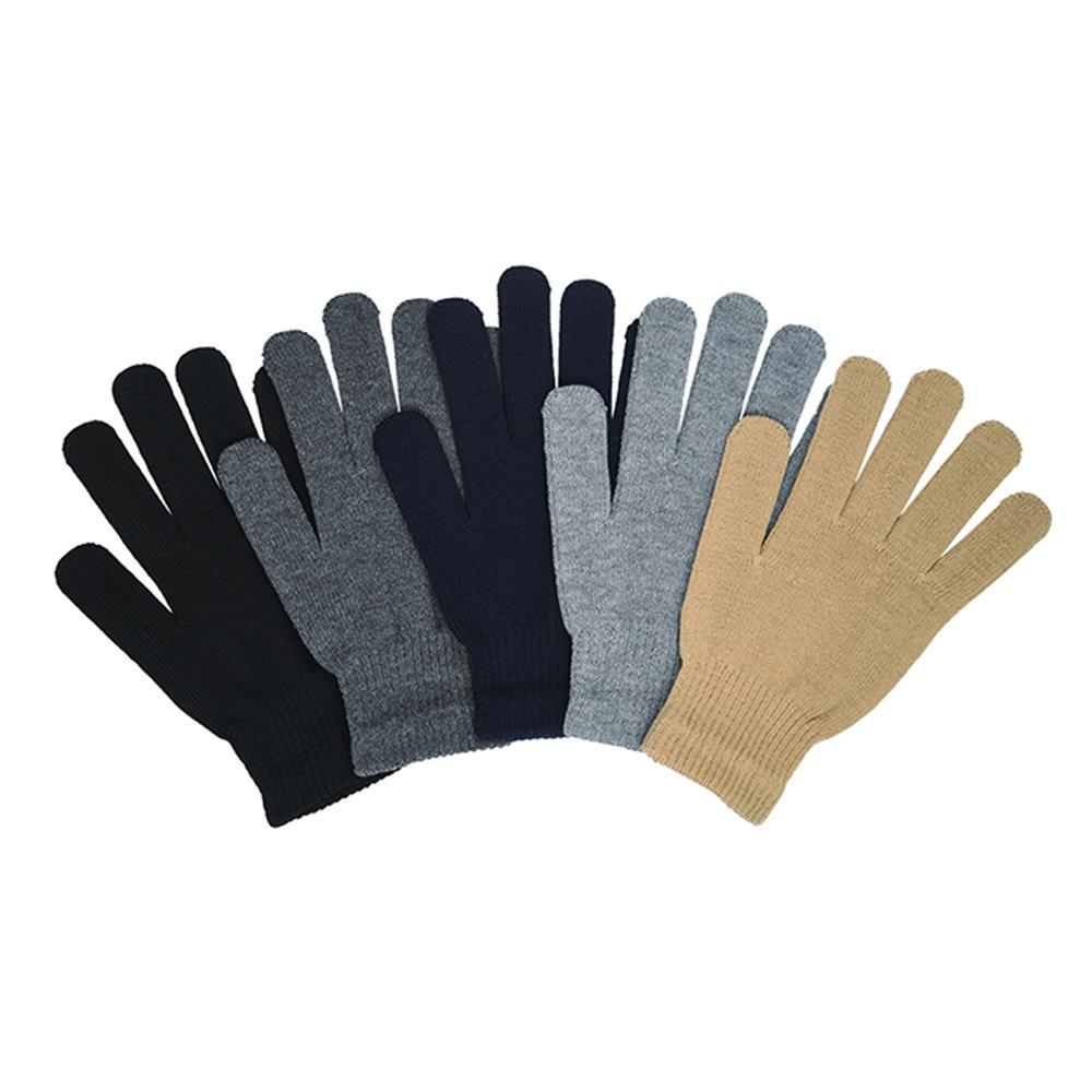 [4 or 6 Pack] Winter Magic Solid Colors Gloves - Mens and Womens Options-4-Pack-Mens-Daily Steals