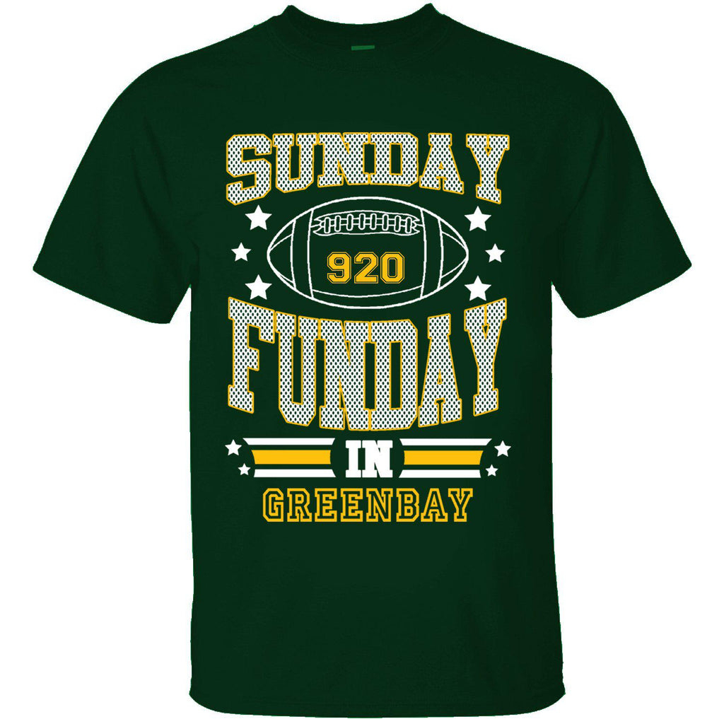 T-shirts de football Sunday Funday pour homme-GREEN BAY - Vert forêt-Small-Daily Steals